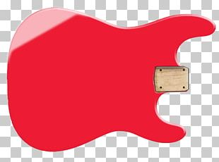 Electric Guitar Plucked String Instrument Musical Instruments Red PNG