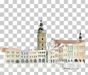 Watercolor Painting Drawing Architecture PNG