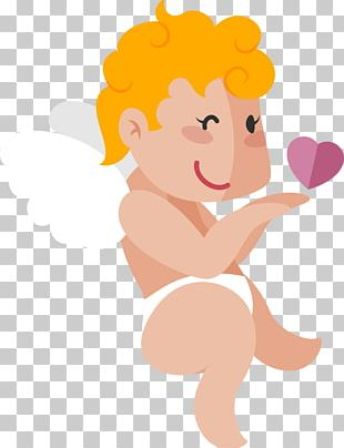 Lovely Cupid Illustration PNG
