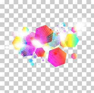 Color Hexagon Combination Background PNG