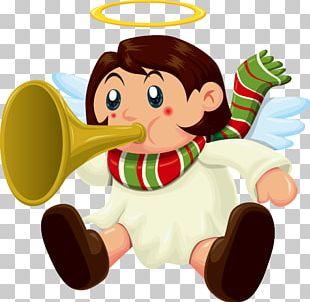Santa Claus Christmas Angel PNG