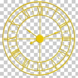 Skeleton Clock Gold Roman Numerals Numeral System PNG