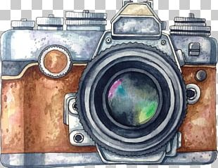 Camera Photography Watercolor Painting Drawing PNG
