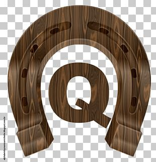 Horseshoe Wood Paper Alphabet PNG