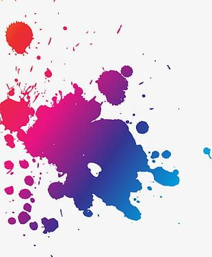 Abstract Colorful Watercolor PNG
