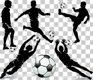 Football Player Silhouette Dribbling PNG