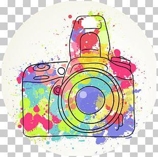 Photography Drawing Camera Watercolor Painting PNG