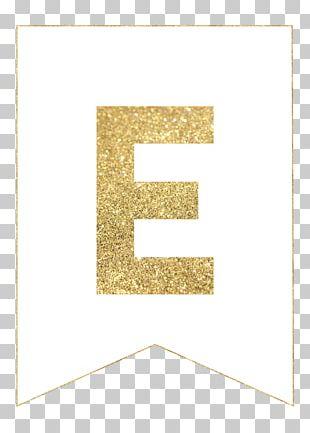 Letter Birthday Banner Gold Pennon PNG