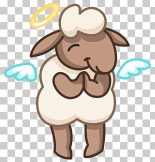 Sticker Telegram VKontakte Sheep PNG
