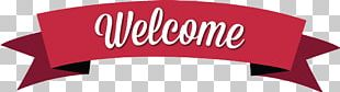 Classic Red Welcome Banner PNG