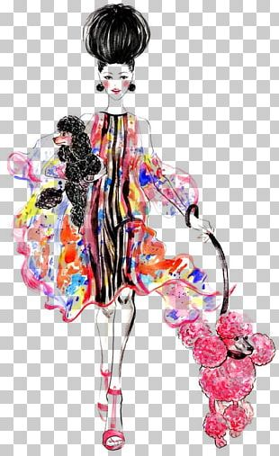 Fashion Illustration Watercolor Painting Drawing Illustrator PNG