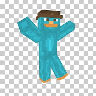Minecraft Perry The Platypus Creeper Diamond Sword Ferb Fletcher PNG
