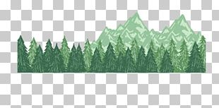 Euclidean Mountain Tree PNG