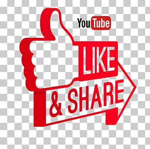 Like And Share On Youtube PNG