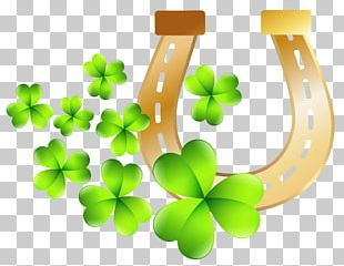 Ireland St. Patrick's Day Shamrocks Saint Patrick's Day Horseshoe PNG