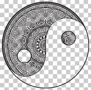 Mandala Coloring Book Drawing Yin And Yang Symbol PNG