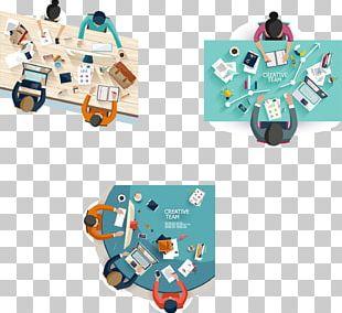 Flat Design Meeting Illustration PNG