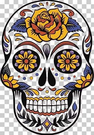 Calavera Day Of The Dead Death Party Mexico PNG