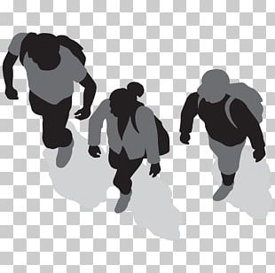 Silhouette Walking Drawing Sport PNG