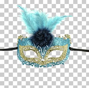 Venice Carnival Domino Mask Venetian Turquoise PNG