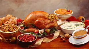 Mashed Potato Turkey Stuffing Gravy Thanksgiving Dinner PNG