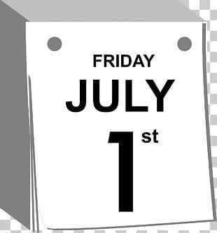 1 July Calendar Date Abreißkalender PNG