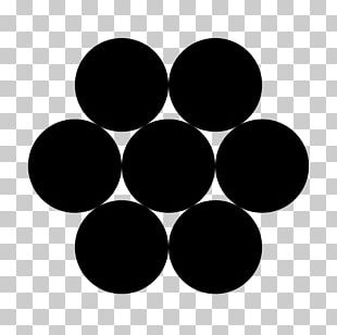 Circle Packing In A Circle Hexagon Geometry PNG