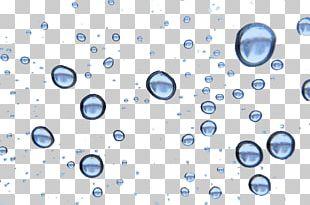 Blue Water Bubble Drop PNG