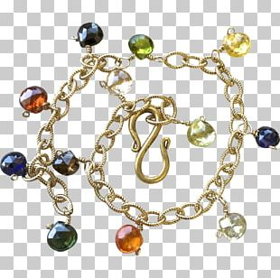 Charm Bracelet Gemstone Gold-filled Jewelry Bead PNG
