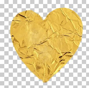 Gold Love Heart Silver PNG
