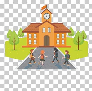 Student School Cartoon Illustration PNG