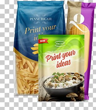 Vegetarian Cuisine Pasta Plastic Bag Packaging And Labeling PNG