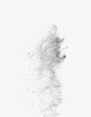 Black Simple Dust Effect Elements PNG