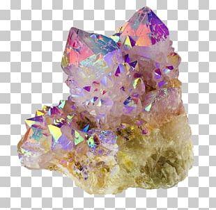 Quartz Metal-coated Crystal Mineral Sticker PNG