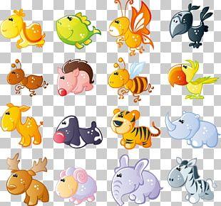 Cute Cartoon Animals Material PNG