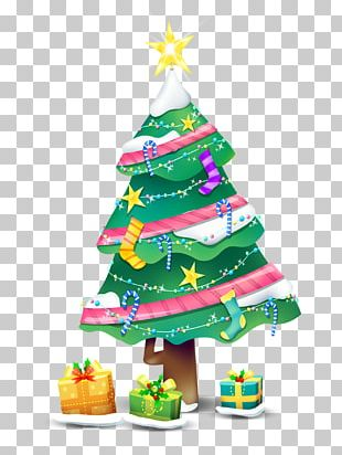 Christmas Tree Candy Cane Santa Claus Christmas Ornament PNG
