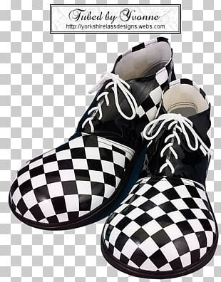 Clown Shoe T-shirt Black And White Costume PNG