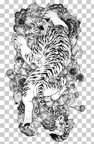 Tattoo China White Tiger Chinese Dragon PNG