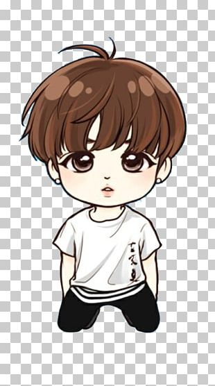 BTS Chibi Save Me Drawing Fan Art PNG