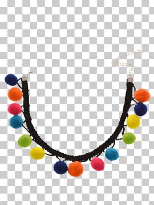 Necklace Bead Choker Jewellery Pom-pom PNG