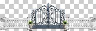 Fortified Gateway Fence Garden Door PNG