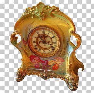 Rococo Revival Victorian Era Antique Clock PNG