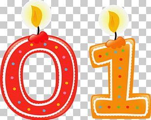 Number Birthday Candle PNG