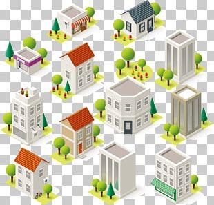 Building Isometric Projection PNG