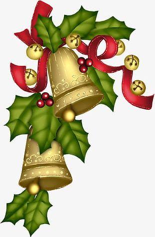 Golden Christmas Bell PNG