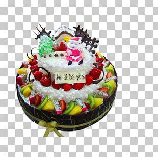Birthday Cake Christmas Cake Chocolate Cake Santa Claus Fruitcake PNG