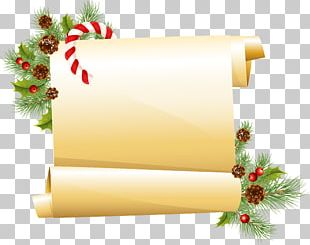 Paper Borders And Frames Scroll Christmas PNG