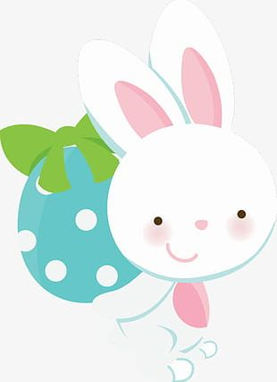 Bunny Holding Egg PNG