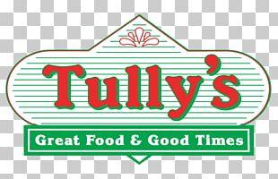 Logo Brand Green Font Tullys PNG