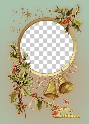 Vintage Christmas Photo Frame PNG